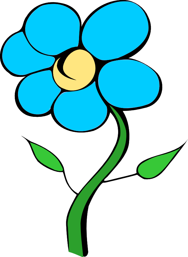 Blue daisy clipart no center.