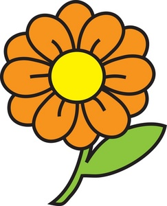 Orange And Yellow Flower Clipart