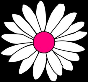 Hot Pink Center Daisy Clip Art at Clker.com.