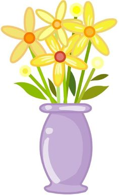 Flower Clipart Image: clip art illustration of a blue flower with.