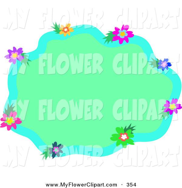 Light Green Flower Clipart.