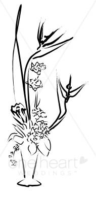 Flower Centerpiece Clipart.