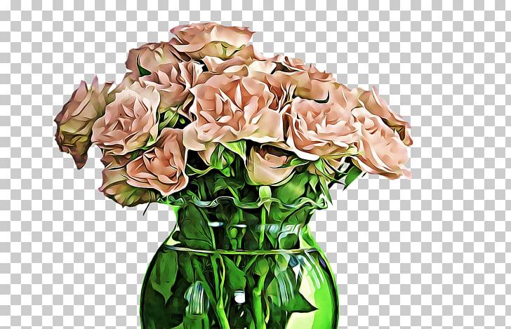 Flowers In Vase Drawing, pink petaled flower centerpiece.