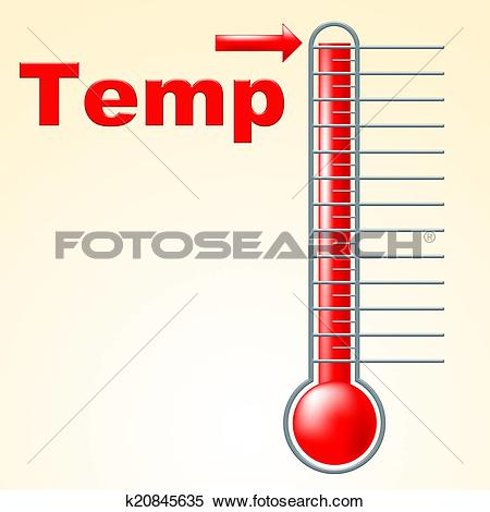 Stock Illustration of Temperature Thermometer Indicates Mercury.