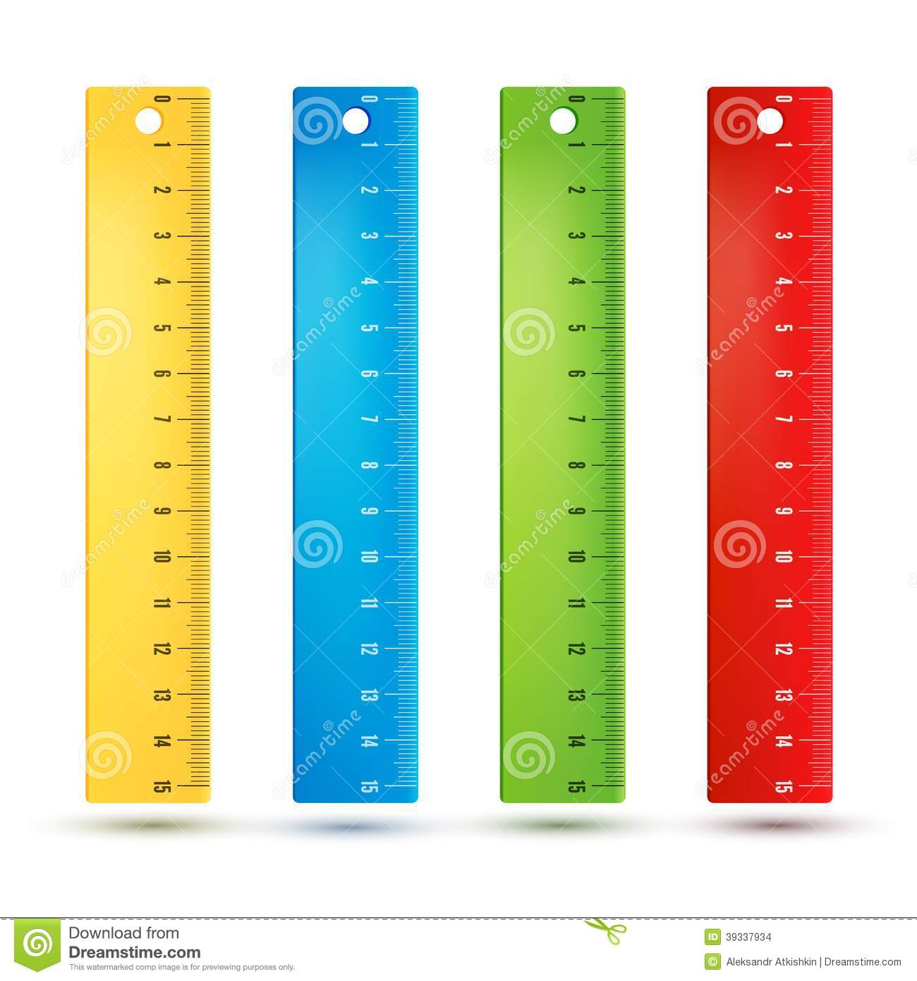 Rulers In Centimeters Stock Vector.