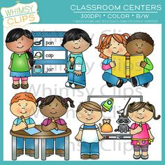 Learning centers clipart.
