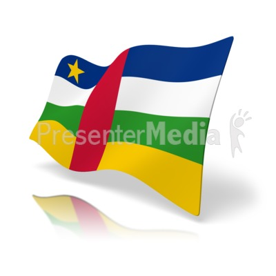 Flag Central African Republic.
