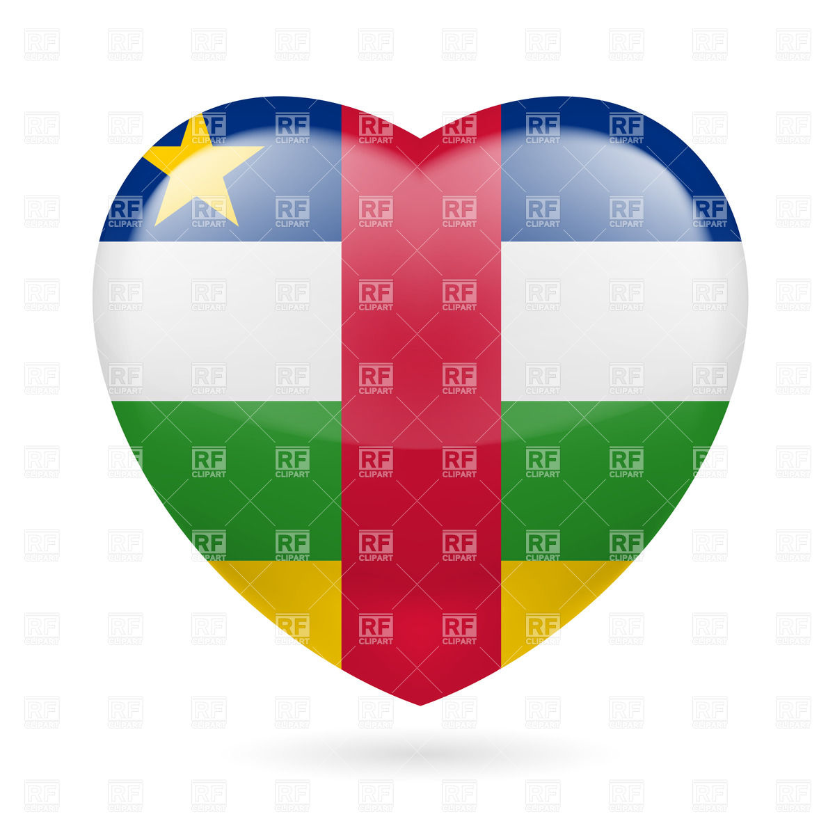Central african republic flag clipart.