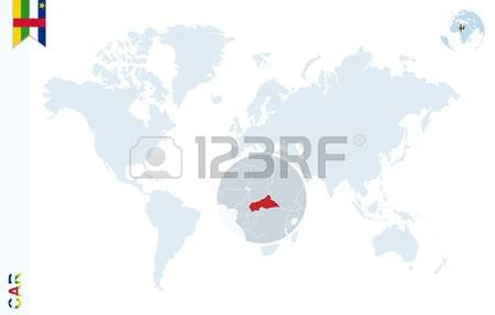 727 Central African Republic Map Stock Vector Illustration And.
