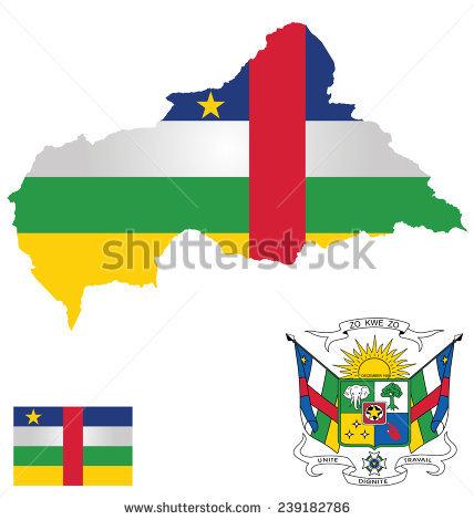 Central African Republic Map Stock Photos, Royalty.