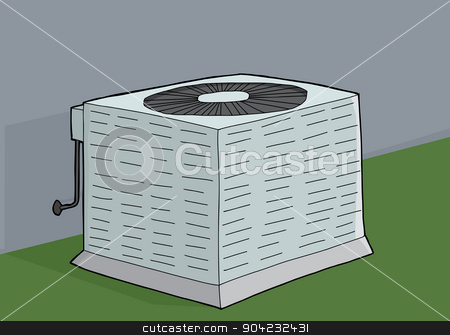Central Air Conditioner stock vector.