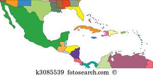 Central america map Clip Art Vector Graphics. 875 central america.