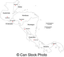 Central america map Vector Clipart EPS Images. 1,050 Central.