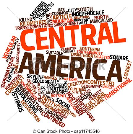 Drawing of Central America.