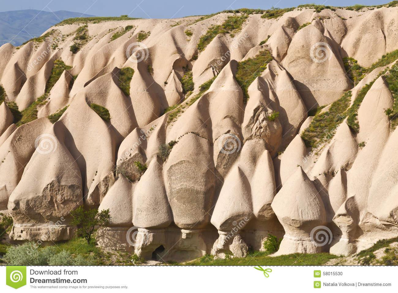 Rocks Of Cappadocia In Central Anatolia, Turkey Royalty Free Stock.