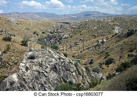 Picture of Mountains in central Anatolia near Ankara, Turkey.