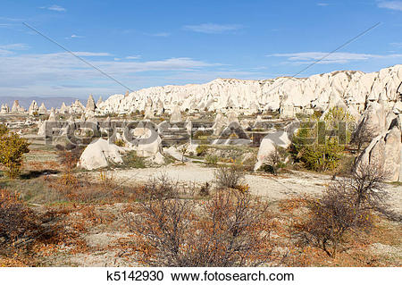 Stock Photography of Cappadocian Valley in Central Anatolia.