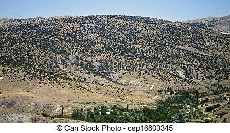 Stock Photo of Mountains in central Anatolia near Ankara, Turkey.