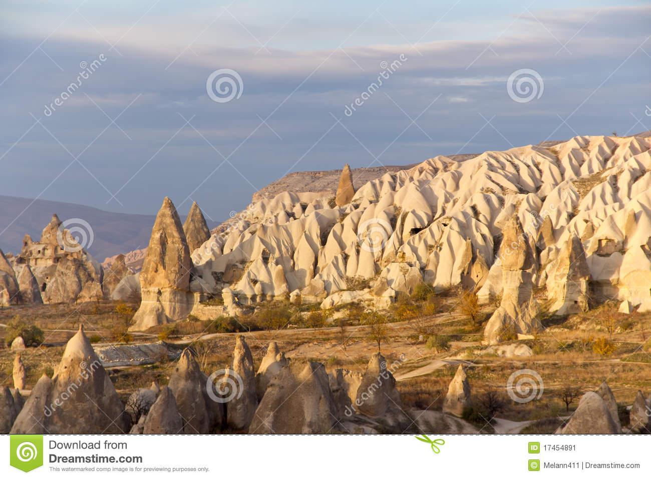 Cappadocian Valley In Central Anatolia, Turkey Stock Image.