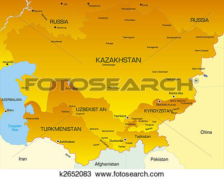 Drawing of Central Asia k2652083.