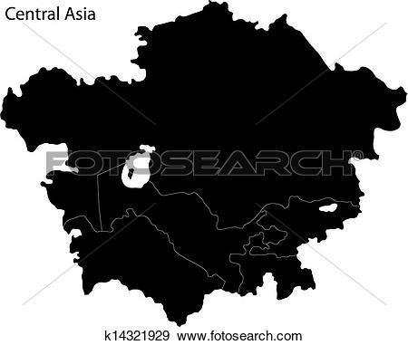 Clip Art of Black Central Asia k14321929.