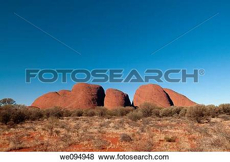 Pictures of The Olgas in North Territory, central Australia.