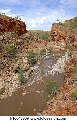 Stock Photograph of Ormiston Gorge Central Australia k10048369.