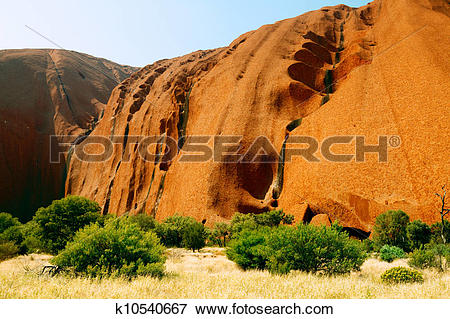 Picture of red rock central Australia k10540667.