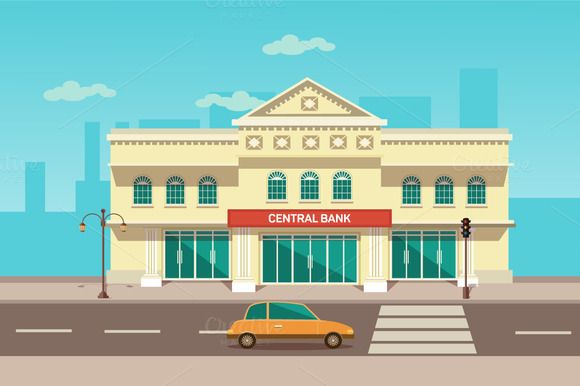 Vector illustration of central bank by VectorMarket on.