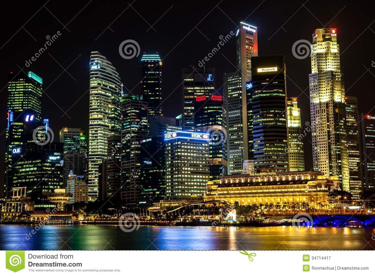 Raffles Place; Central Business District (CBD) Singapore Editorial.