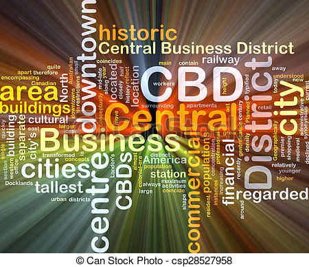 Stock Images of Central business District CBD background concept.