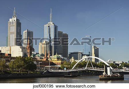 Stock Image of Australia, Victoria, View of Melbourne central.