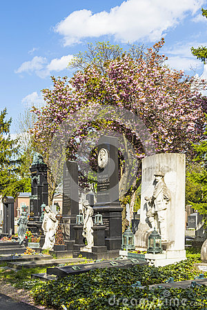 Beethoven Grave At Vienna Central Cemetery Royalty Free Stock.