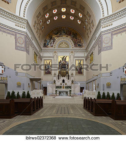"Pictures of ""Interior of the Cemetery Church of St. Carlo Borromeo."