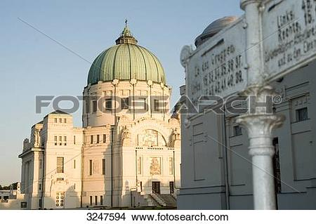 Stock Photo of Borromaeus Church at the Central Cemetery of Vienna.
