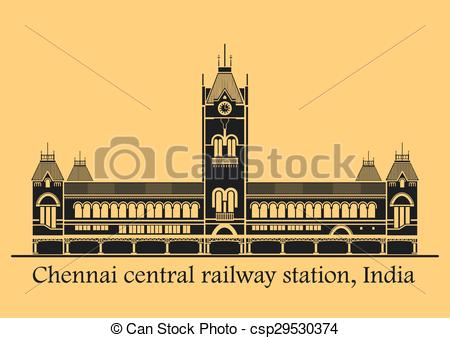 Vectors Illustration of Chennai central station.