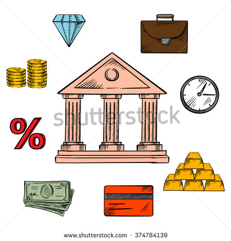 Central bank clipart.