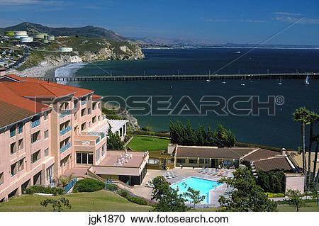 Stock Photography of Avila Beach along Central Coast of California.