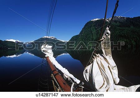 Picture of ecotour vessel Duen bowsprit, Fiordland Recreational.