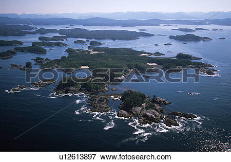 Picture of Aerial of Hakai Pass recreational Area, Central Coast.