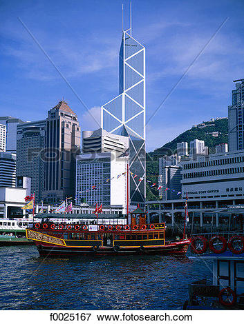 Picture of China, Hong Kong, Central District, Bank of China Tower.