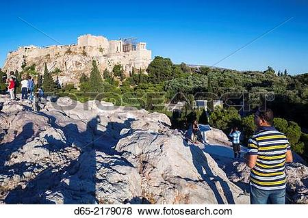 Pictures of Greece, Central Greece Region, Athens, sunset visitors.