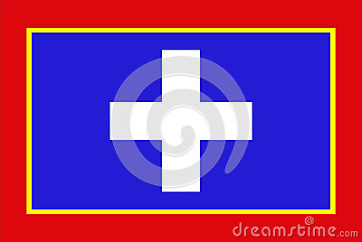 Central Greece Region Flag Stock Illustrations.
