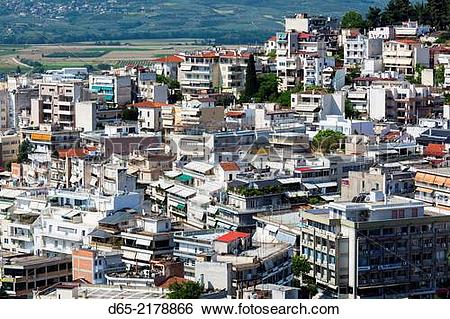 Stock Images of Greece, Central Greece Region, Lamia, elevated.