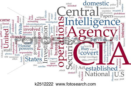Clip Art of CIA Central Intelligence Agency k2512222.