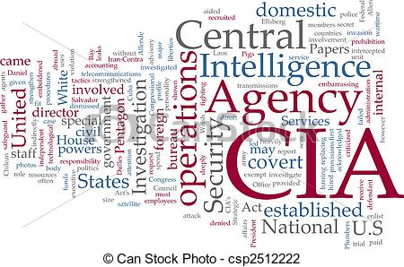 Clip Art of CIA Central Intelligence Agency.