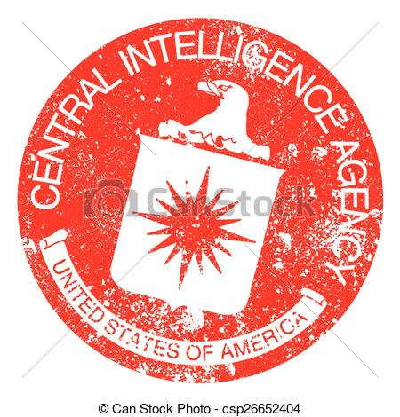 Vector Clipart of CIA Rubber Stamp.