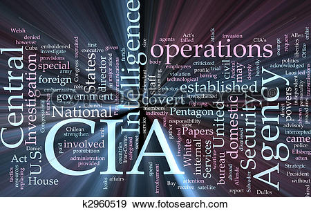 Stock Illustration of CIA Central Intelligence Agency glowing.