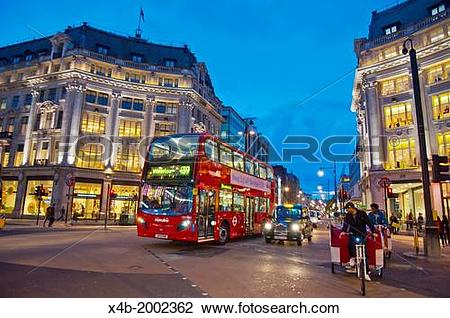 Stock Photo of Oxford Circus central London England Britain UK.