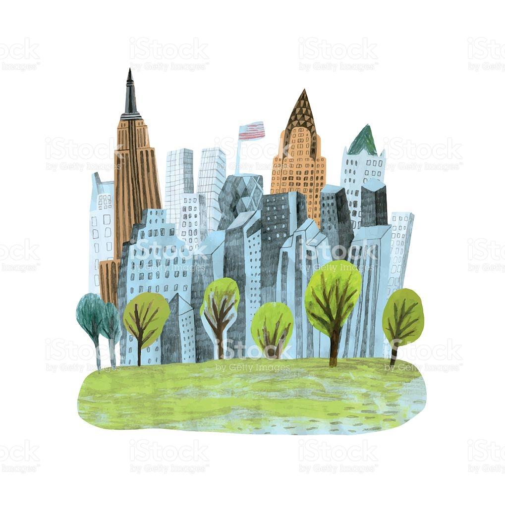 Central Park In New York City stock vector art 533043432.
